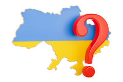 Ukraine Question concept, 3D. Rendering Royalty Free Stock Images