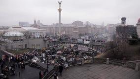 Ukraine after the revolution. 27/02/2014 Kiev, Ukraine, Independence Square stock footage