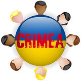 Ukraine and Russia conflict for Crimea Icon Stock Photo