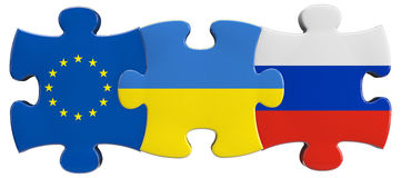 Ukraine Russia EU Relations Royalty Free Stock Images