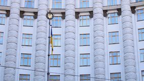 Ukraine's government building. In Kyiv stock video footage