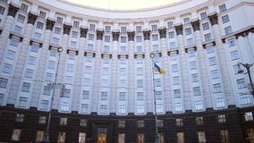 Ukraine's government building. In Kyiv stock video