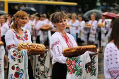 Ukraine-` s Unabhängigkeitstag Stockbild
