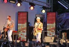 Ukraine Singer Oleg Skripka (left) at Festival Royalty Free Stock Photo