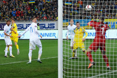 Ukraine and Slovenia. UEFA EURO 2016 play-off Royalty Free Stock Photography