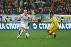 Ukraine and Slovenia. UEFA EURO 2016 play-off Stock Images