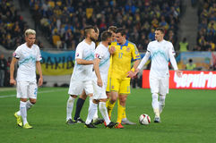 Ukraine - Slovenia. UEFA EURO 2016 play-off Stock Image