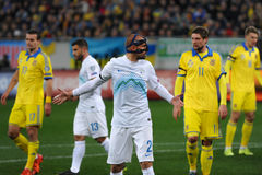 Ukraine - Slovenia. UEFA EURO 2016 play-off Stock Images