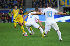 Ukraine - Slovenia. UEFA EURO 2016 play-off Royalty Free Stock Photography