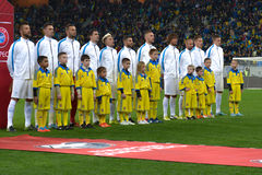 Ukraine and Slovenia. UEFA EURO 2016 play-off Royalty Free Stock Images