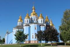ukraine St Michael& x27; s gouden-Overkoepeld Klooster De stad van Kiev royalty-vrije stock afbeeldingen