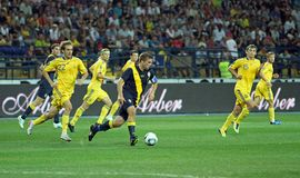 Ukraine - Sweden national teams football match Stock Photos