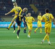 Ukraine - Sweden national teams football match Stock Photography