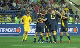 Ukraine - Sweden national teams football match Stock Photo