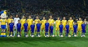 Ukraine - Sweden teams football match Stock Photography