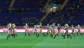 Ukraine - Sweden teams football match Royalty Free Stock Image