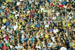 Ukraine - Sweden teams football match Stock Image