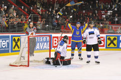 Ukraine team make a goal Stock Images
