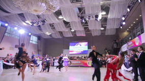 UKRAINE, TERNOPIL, MARCH 12, 2016: Ballroom dancing competition. In full HD stock video footage