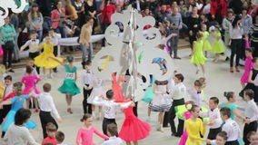 UKRAINE, TERNOPIL, MARCH 12, 2016: Children dance contest, Grande Cup 2016 - little dancers. UKRAINE, TERNOPIL, MARCH 12, 2016: Children dance competition stock video