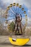 ukraine Tjernobyl uteslutandezon - 2016 03 19 Övergett nöjesfält i den Pripyat staden Arkivfoto