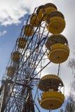ukraine Tjernobyl uteslutandezon - 2016 03 19 Övergett nöjesfält i den Pripyat staden Fotografering för Bildbyråer