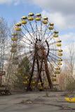 ukraine Tjernobyl uteslutandezon - 2016 03 19 Övergett nöjesfält i den Pripyat staden Royaltyfria Foton