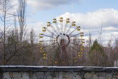 ukraine Tjernobyl uteslutandezon - 2016 03 19 Övergett nöjesfält i den Pripyat staden Royaltyfri Bild