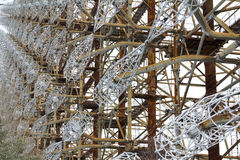 ukraine Tjernobyl uteslutandezon - 2016 03 20 Sovjetisk radarlätthet DUGA Royaltyfri Fotografi