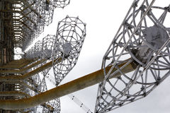 ukraine Tjernobyl uteslutandezon - 2016 03 20 Sovjetisk radarlätthet DUGA Royaltyfria Bilder