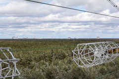 ukraine Tjernobyl uteslutandezon - 2016 03 20 Sovjetisk radarlätthet DUGA Royaltyfri Bild