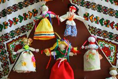 Ukraine traditional dolls Royalty Free Stock Images