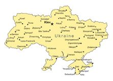 Ukraine vector map Stock Image