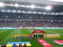 Ukraine vs Belarus Stock Photo