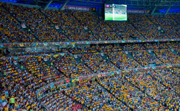 Ukraine vs France match at euro 2012 Royalty Free Stock Images