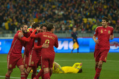 Ukraine vs Spain. UEFA EURO 2016 play-off Royalty Free Stock Photography