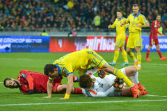 Ukraine vs Spain. UEFA EURO 2016 play-off Royalty Free Stock Images