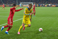 Ukraine vs Spain. UEFA EURO 2016 play-off Royalty Free Stock Photo