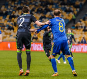Ukraine vs Wales Royalty Free Stock Image