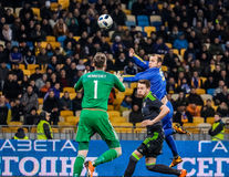 Ukraine vs Wales Royalty Free Stock Images