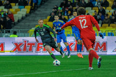 Ukraine vs. Wales. UEFA friendly game Stock Image