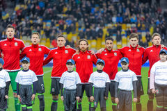 Ukraine vs. Wales. UEFA friendly game Royalty Free Stock Photo