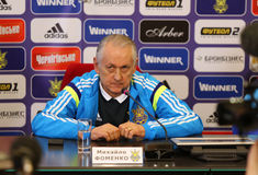 Ukraine - Wales: Pre-match press-conference in Kyiv, Ukraine Stock Images