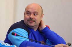 Ukraine - Wales: Pre-match press-conference in Kyiv, Ukraine Royalty Free Stock Images