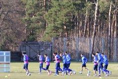 Ukraine - Wales: Pre-match training session in Kyiv, Ukraine Stock Photo