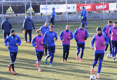 Ukraine - Wales: Pre-match training session in Kyiv, Ukraine Royalty Free Stock Images