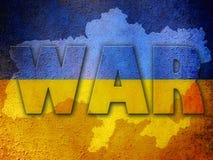 Ukraine war background Stock Photography