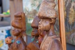 Ukraine, wooden sculptures, Cossacks, history,. Ukraine, sculptures from wood, Cossacks ethnic history Stock Photos