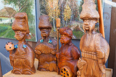 Ukraine, wooden sculptures, Cossacks, history, stock images