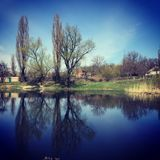 Lake in a city square, on the outskirts of the city. royalty free stock photos